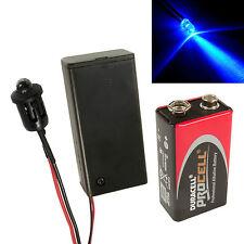 Flashing Blue Dummy Fake Alarm LED Enclosed PP3 Holder + Battery, Car, Boat Kit