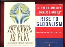 2 Globalism books: The World is Flat & Rise to Globalism - Free Shipping