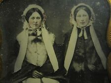 ANTIQUE AMERICAN BEAUTY BONNET LADIES MINKS FASHION AMBROTYPE PHOTO