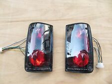 Toyota Hilux Pickup Tail Lights Rear Lamps Assembly MK3 1989-1996 A pair Black