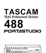 TASCAM 488 PORTASTUDIO Owners / Instructions manual [Booklet]