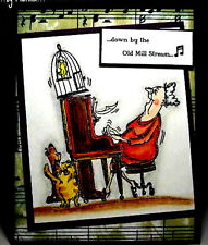 Piano Granny L@@K @ examples Art Impressions Rubber STamps