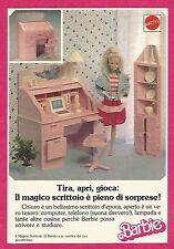 X1348 Barbie - Il Magico Scrittoio - Mattel - Pubblicità del 1989 - Vintage ad