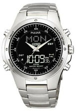 PNP PM7009X1 Pulsar Mens Alarm Chronograph World Time Bracelet Sports Watch