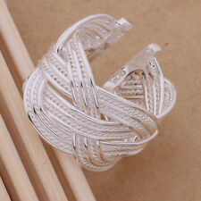 925 Sterling Silver Fashion Twisted Wave Adjustable Wrap Band Ring / Thumb Gift
