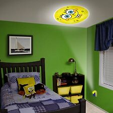 Home Kids Bedroom Sponge Bob  Projectable LED Plug-In Night Light Decor Lamp NEW