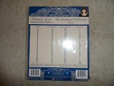 4 Embossing Folders Tattered Lace Sentiment Collection Set 1