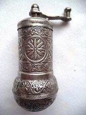 Turkish Coffee Brass Hand Made Engraved Grinder Spice Salt Pepper Mill