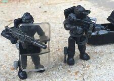 LEGO / MEGA BLOKS SWAT Team Police Officer Tactical Unit Minifig Lot 120