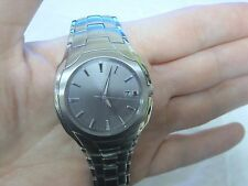 Citizen Eco-Drive Analog Stainless Steel Mens Watch in box LQQK NICE