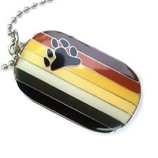 BEAR PRIDE FLAG NECKLACE Stainless Steel Enamel Pendant LGBT Gay Lesbian NEW