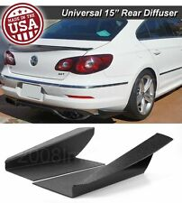 "15"" G3 Rear Bumper Lip Downforce Apron Splitter Diffuser Canard For Mazda Subaru"