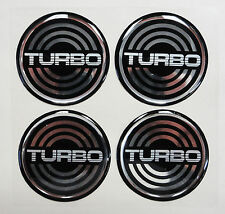 Vintage 80's 90's Automotive Wheel Center Cap Round Emblem Accent Trim TURBO