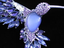 NIB DANA BUCHMAN PURPLE CATS EYE MOONSTONE HUMMINGBIRD BIRD PIN BROOCH JEWELRY