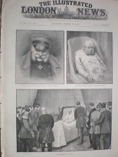 Death Bed of Emperor Wilhelm I of Germany 1888 old prints