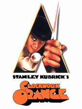Stanley Kubrick's Clockwork Orange Knife Alex Malcolm McDowell Movie Poster