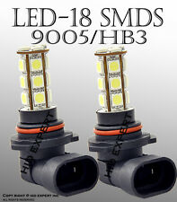 TMZ 1 pair LED 9005 18 LED Super Hyper Super White High B Replacement Bul W4261