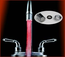 LED Water Faucet Light 7 Colors Changing Glow Shower Stream Tap Bathroom Kitchen