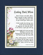 #5 Mother's Day gift present keepsake poem for mom mother 50th 60th birthday