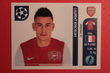 PANINI CHAMPIONS LEAGUE 2011/12 N 349 KOSCIELNY ARSENAL WITH BACK BACK MINT!!