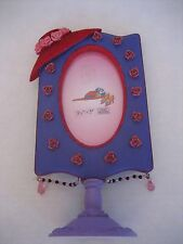 Red/Purple Hat Oval Resin Table Top Single Picture Frame 3 1/2x5 Holds Picture