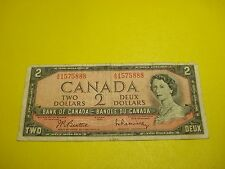 1954 - Canadian $2 bill - two dollar note - AG1575888