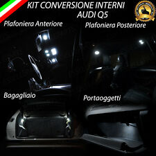 KIT LED INTERNI AUDI Q5 8R PLAFONIERA ANTERIORE+POST+PORTAOGGETTI+BAG. CANBUS