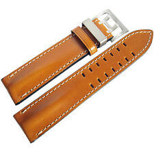 22mm Di-Modell Offroad Mens Tan Leather Pilot German Made Watch Band Strap
