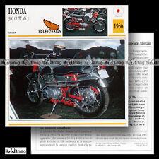 #026.07 HONDA 300 CL 77 MK1 1966 (CL77) Fiche Moto Motorcycle Card
