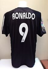 Real Madrid Football Shirt Jersey RONALDO 9 Adult Large L Away 2004 2005 Adidas