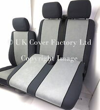 FORD TRANSIT CUSTOM  VAN SEAT COVERS  GREY VELOUR  TAILORED P30GY IN STOCK!!!!