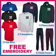 Personalised Embroidered Budget Workwear Package - Polos, Sweats, Fleece Jacket