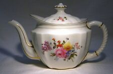 VINTAGE  ROYAL CROWN DERBY POSIES SMALL TEAPOT GREEN MARK