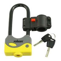 Rolson 66746 Lock Heavyduty 80 x 200mm Bike Cycle Bicycle Safety