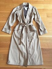 VINTAGE Saint Laurent Rive Gauche YSL Khaki Cotton Long Belted Trench Coat
