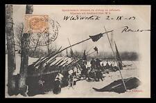 old post card RUSSIA giljacken mit hundeschlitten