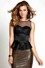 GUESS SLEEVELESS ICONIC BUSTIER TOP SZ: XS