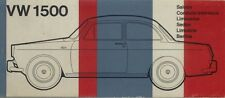 Volkswagen 1500 Type 3 Saloon Original Multilingual Colours & Trims Brochure