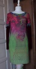robe SAVE THE QUEEN rose et verte - T XL 40 42 -TBE - Legatte - OHDD -