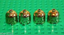 Lego 4x Gold Chrome Brick, Round 2x2x1 Dome Top (30151) NEW!