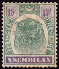 N.SEMBILAN 1896 15c Isc#11 - MH with toned spots @T269