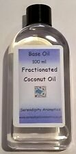 Fractionated Coconut Pure Base Carrier Oil - 100 ml for Massage and Hair