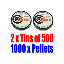 2 x Tins of 500 x .22 Caliber Air Pistol Rifle Pellets