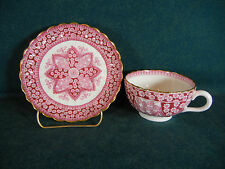 Copeland Spode Spode's Red Primrose Bone China Pattern 1/2722 Cup and Saucer(s)