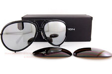 New Porsche Design Sunglasses P8613 8613 A Black Interchangeable Lenses Unisex