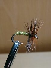 Green Wells Glory Hackle Trout Buzzers Dry Fly Fishing Trout Flies