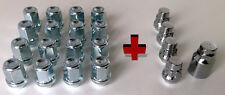 20 x alloy wheel locking nuts bolts & locks. M12 x 1.5, 19mm Hex, Tapered Seat