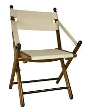 "Campaign Folding Chair 36"" Wooden Portable British Camp Outdoor Furniture"
