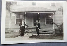 1914 RPPC PHOTO POSTCARD BICYCLE AND HOME 531 15TH ST. LOS ANGELES, CALIFORNIA