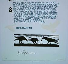 8 Eight Rules Of Writing by Neil Gaiman - Signed Limited Edition Letter 149/251